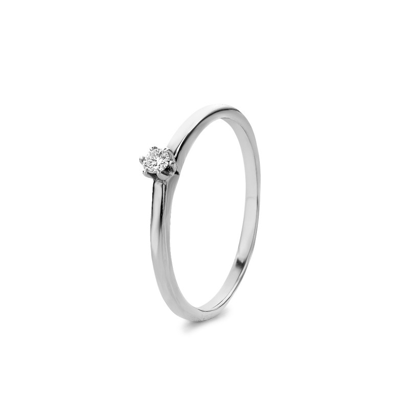 Witgouden solitair ring W018-005-G2