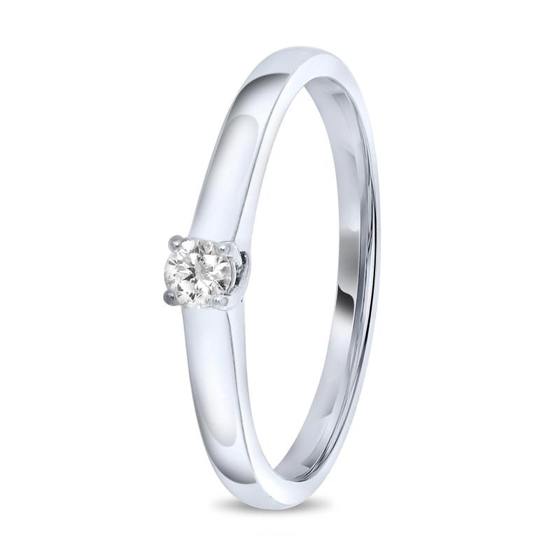 Witgouden solitari ring SOL-W040-010-G2