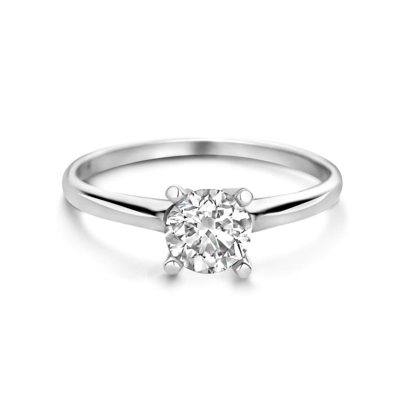 Witgouden ring met diamant SOL-W99-080-G2