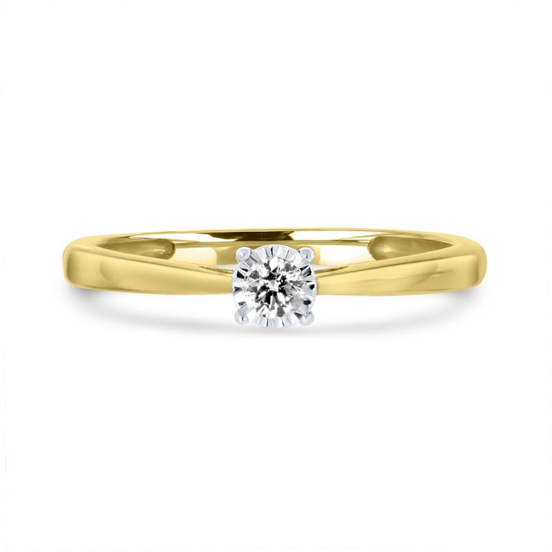 Geelgouden ring met diamant SOL-Y915-010-G2