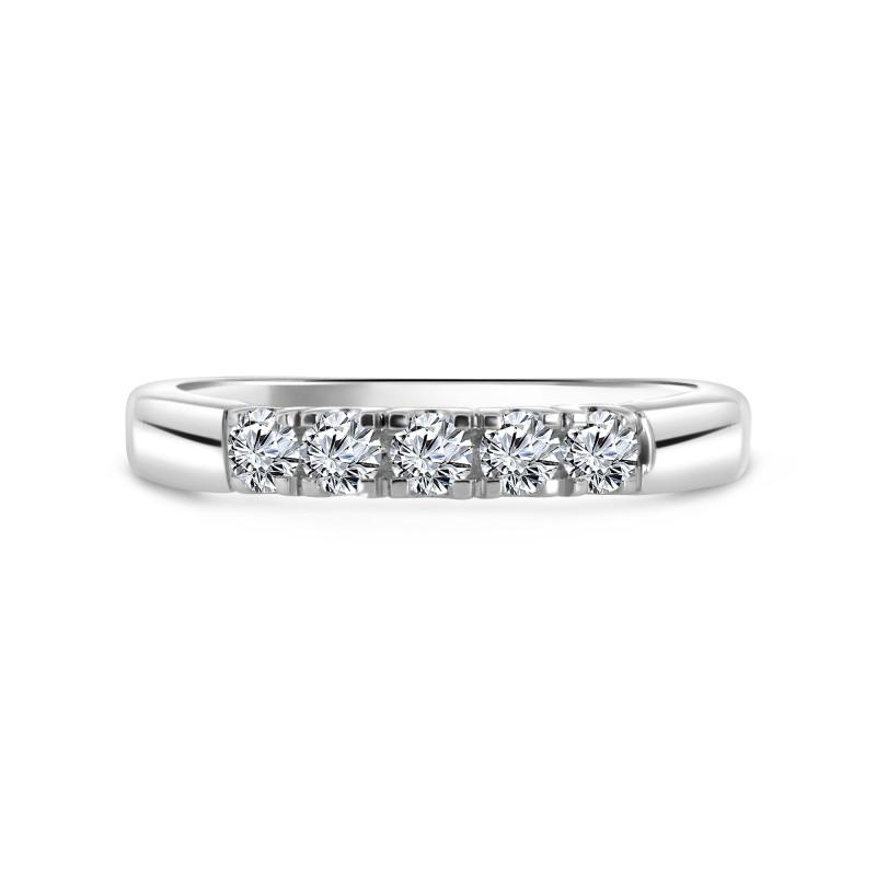 Witgouden rijring met diamant RG75172
