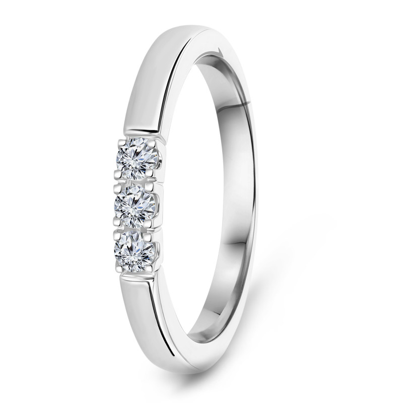 Witgouden rijring met diamant RG75176