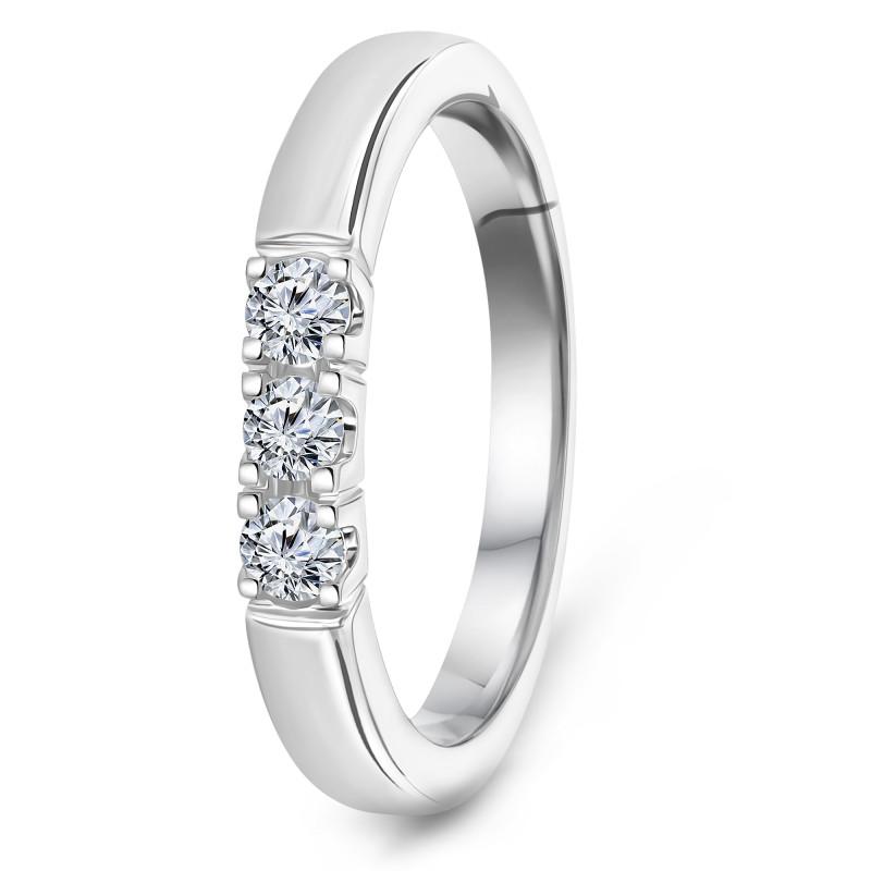 Witgouden rijring met diamant RG75177