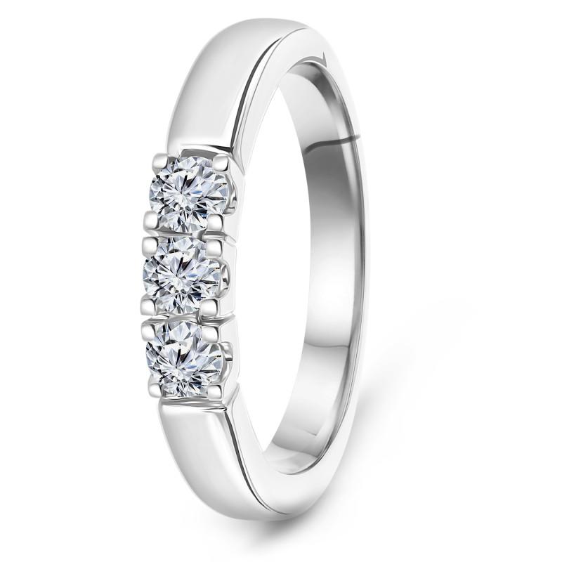 Witgouden rijring met diamant RG75178