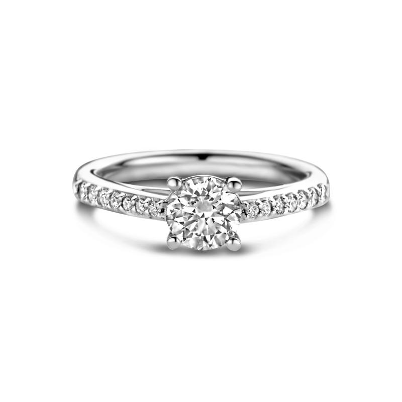 Witgouden ring met diamant RG036504100