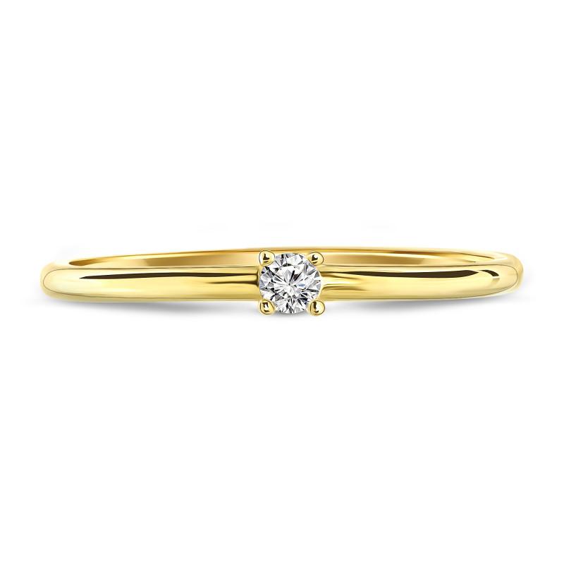Geelgouden ring met zirkonia 02CA604