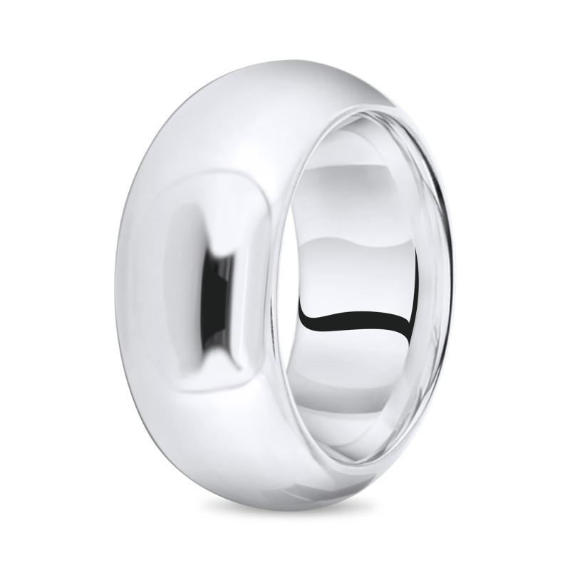 Zilveren gladde grove ring 10-1599-0010