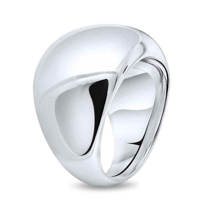 Zilveren gladde grove ring 10-3740-0010