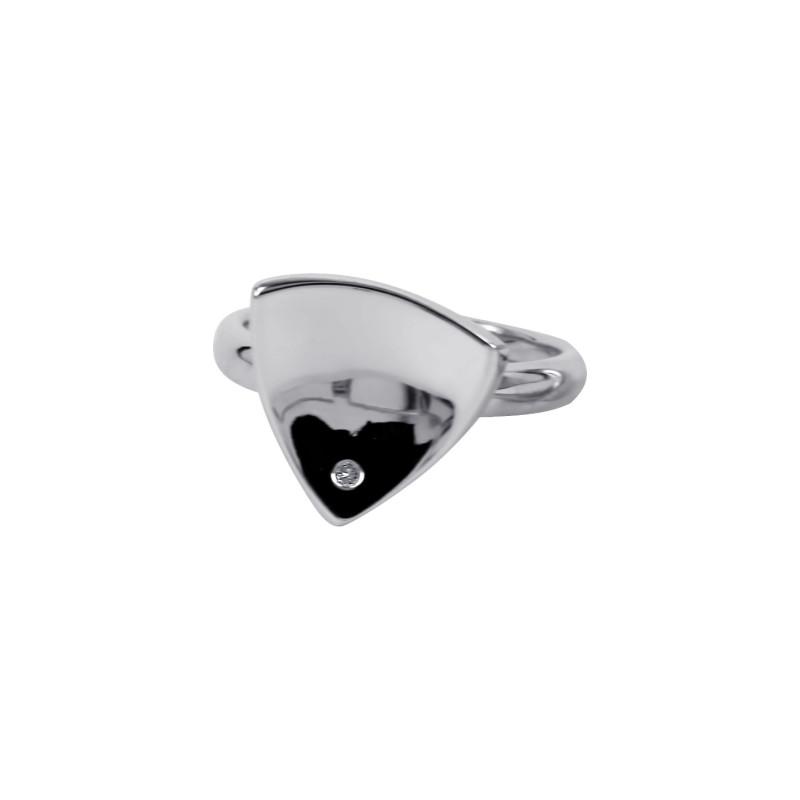 Zilveren ring met diamant RNC16087001