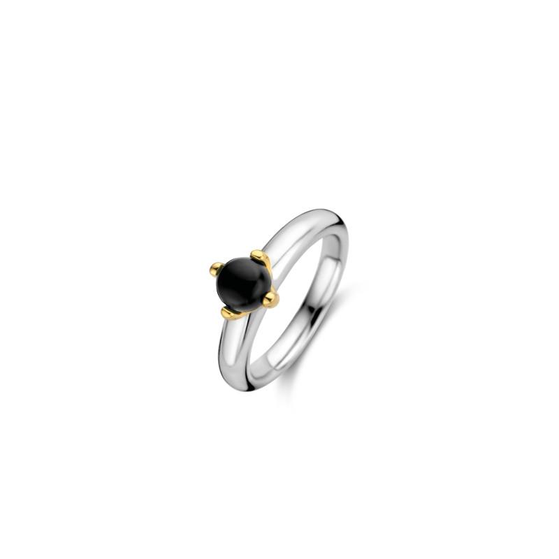 Zilveren ring met onyx 12126BO