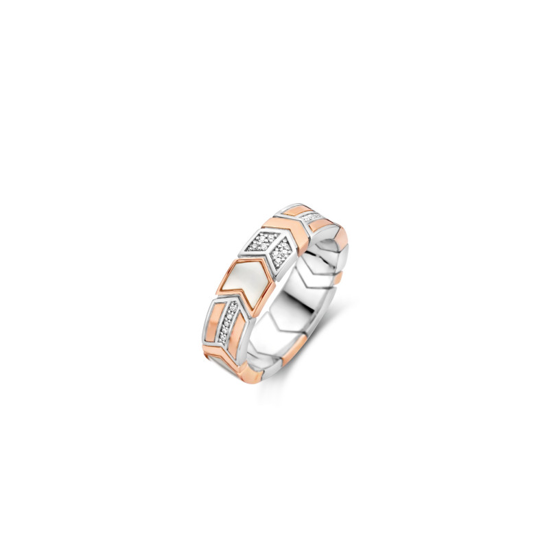 Rosé ring met parelmoer 12202MW