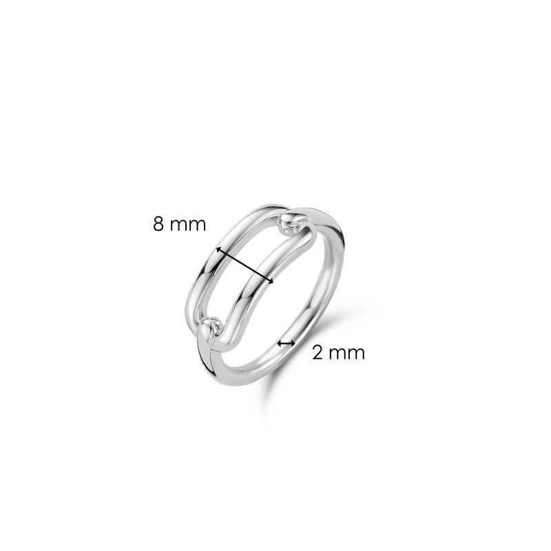 Zilveren ring 12229SI