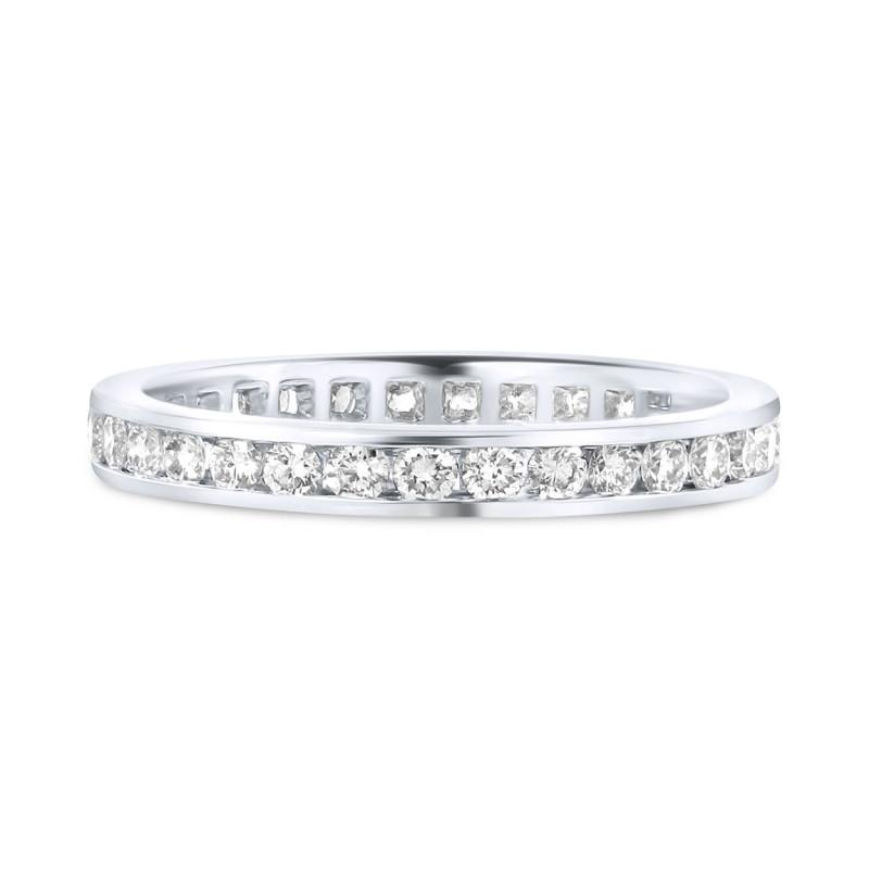 Witgouden ring met diamant R071712-W