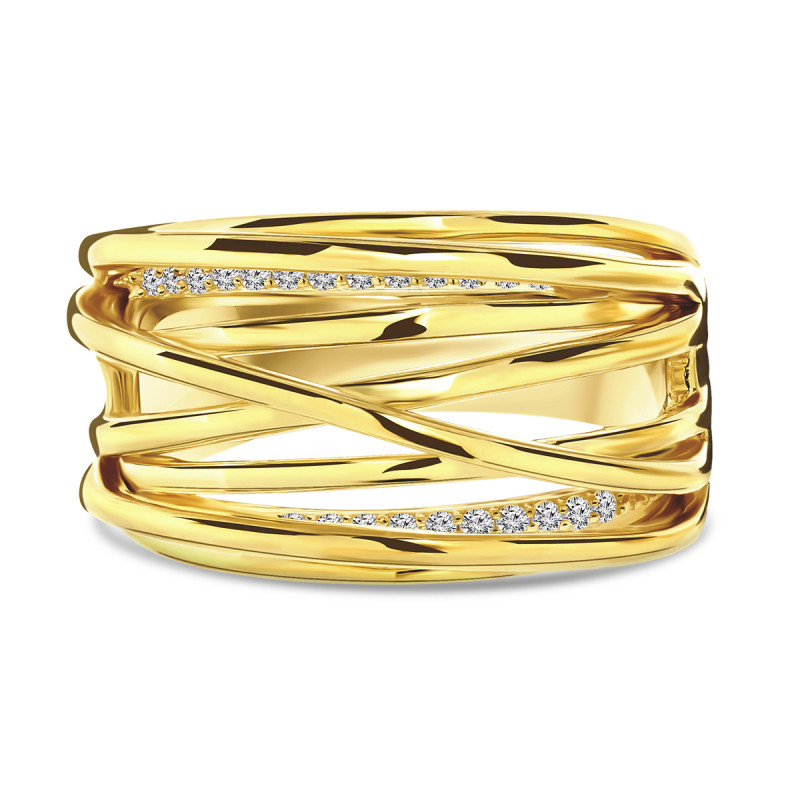 Gold plated ring 01.096Z.35