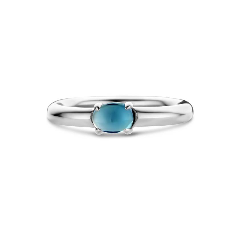 Zilveren ring met topaas 01.357BT.25