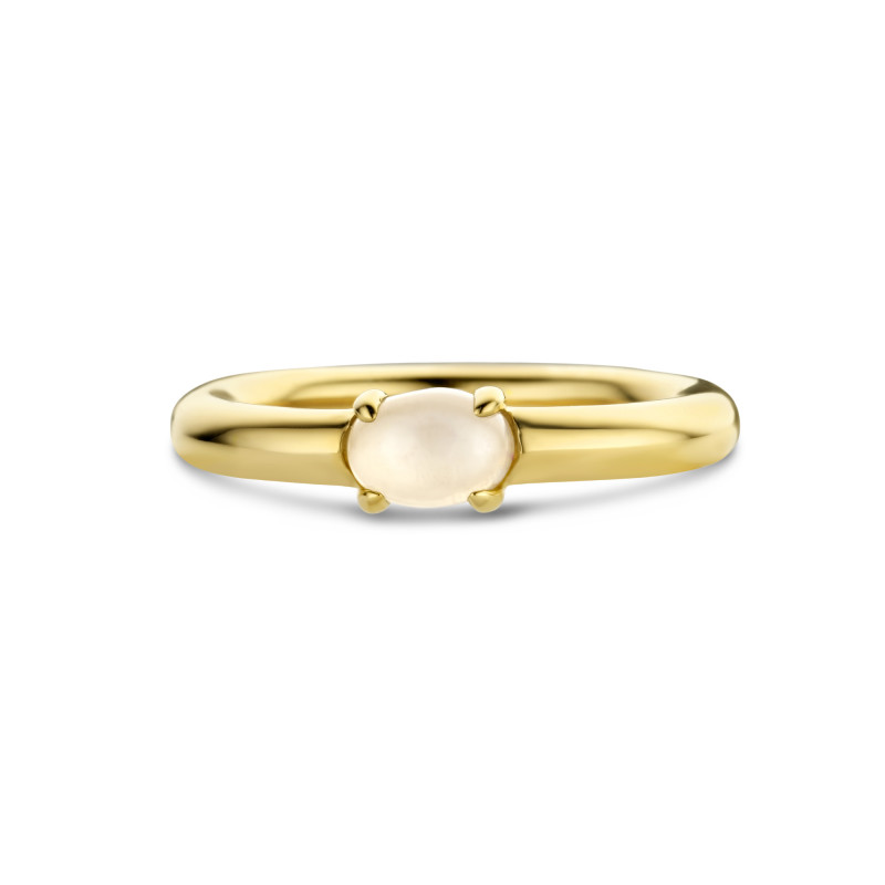 Gold plated ring met maansteen 01.357M.35