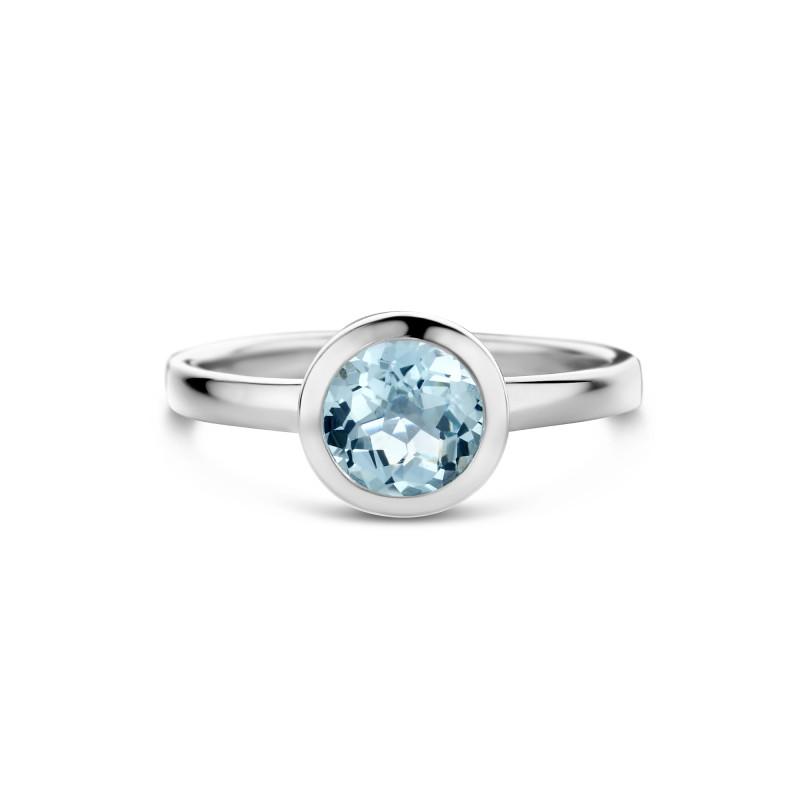Zilveren ring met topaas 01.443BT.25