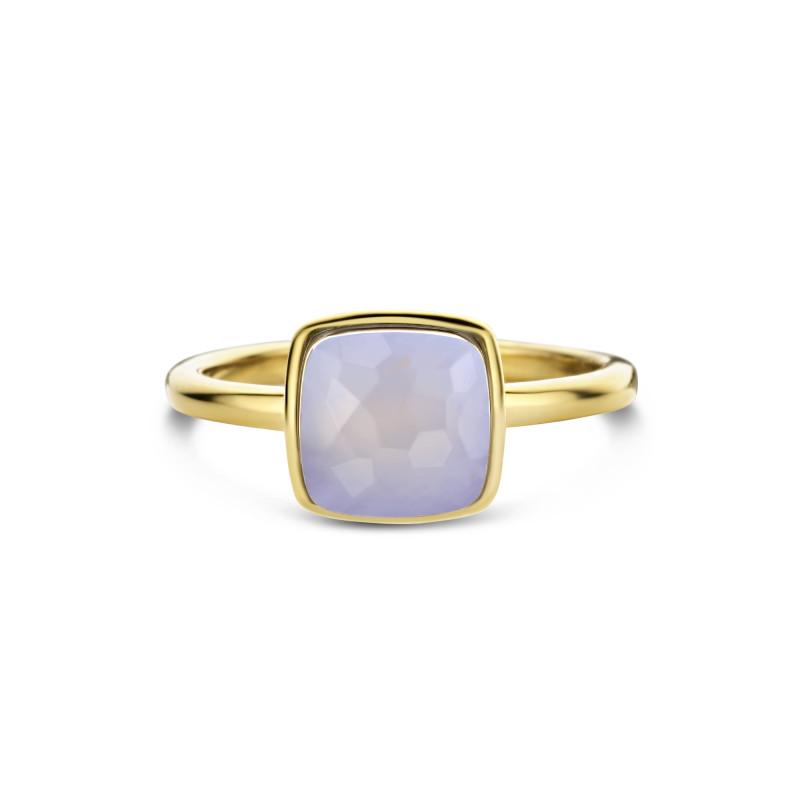 Gold plated ring met chalcedoon 01.446CA.35