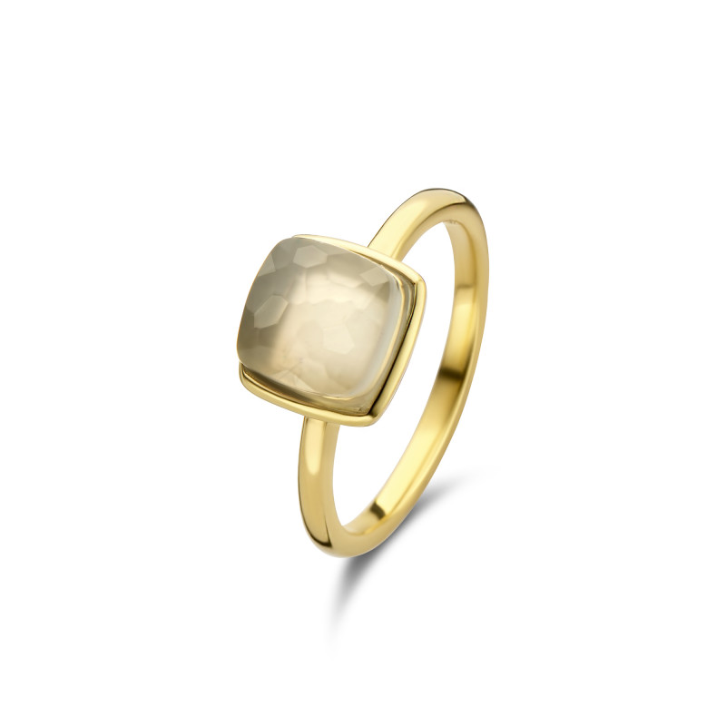 Gold plated ring met maansteen 01.446GM.35