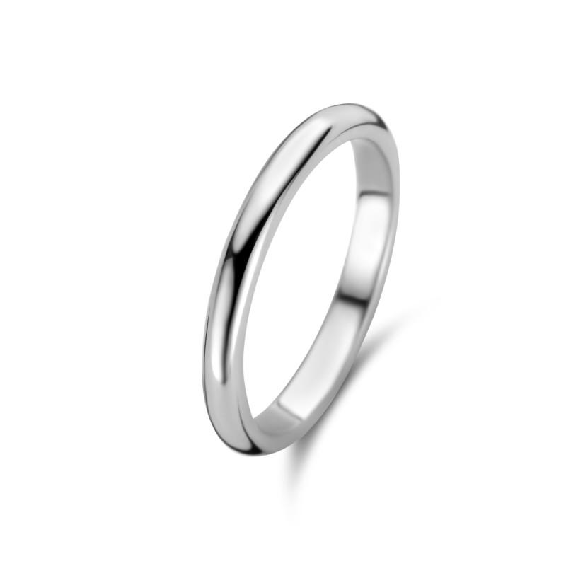Zilveren solide ring met een dikte van 2,65mm