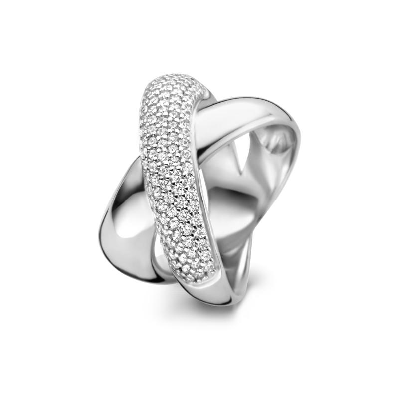 Zilveren ring met zirkonia TCR19131M