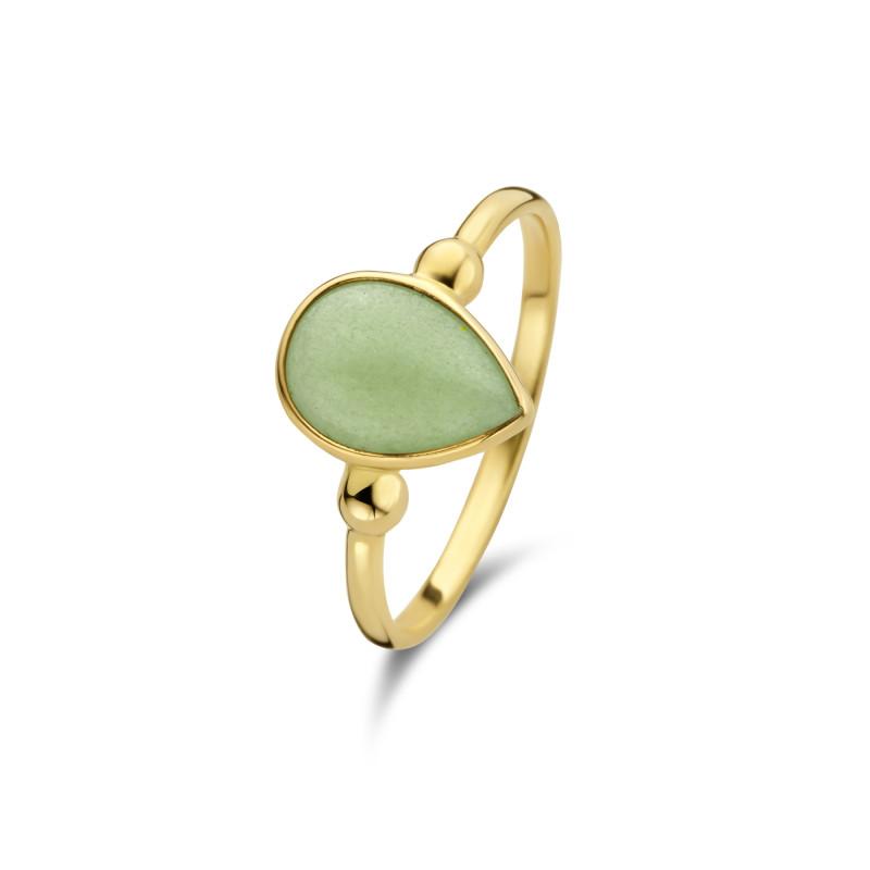 Geelgouden ring met aventurien AG882-1030