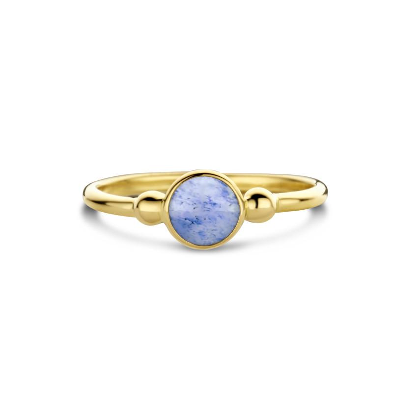 Geelgouden ring met kwarts AG882-1034