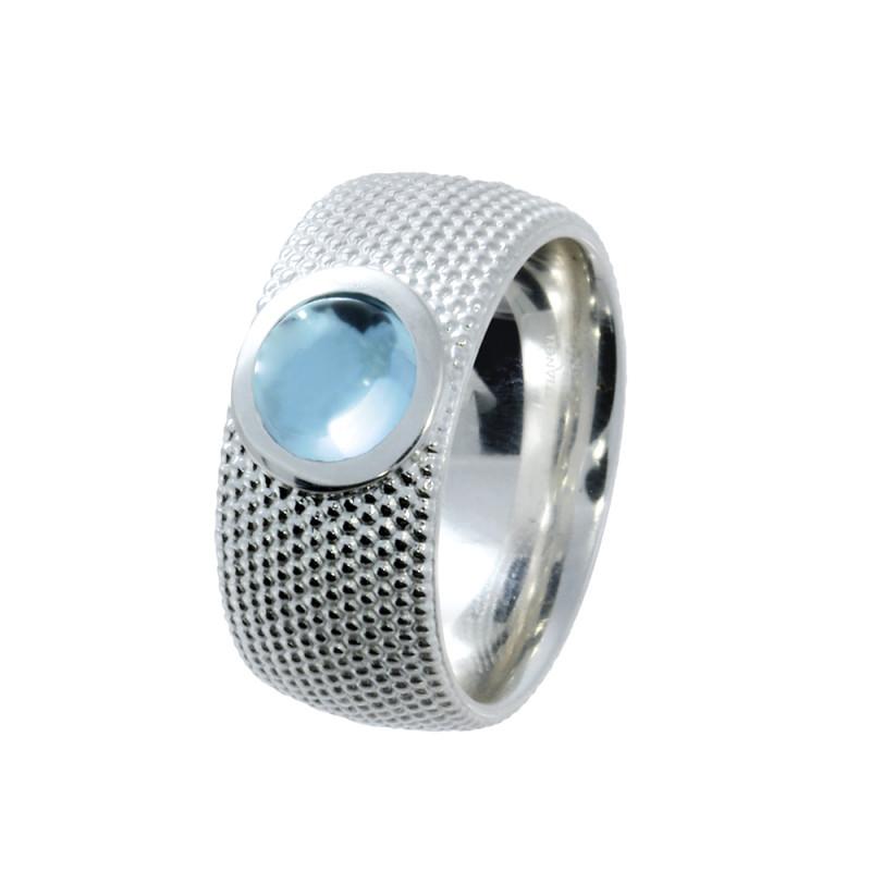 Zilveren ring met topaas 210190-T