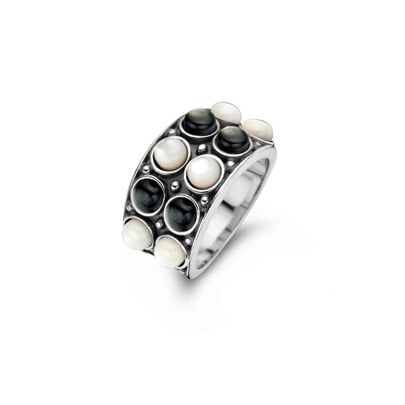 Zilveren ring met parels 9SY-0067