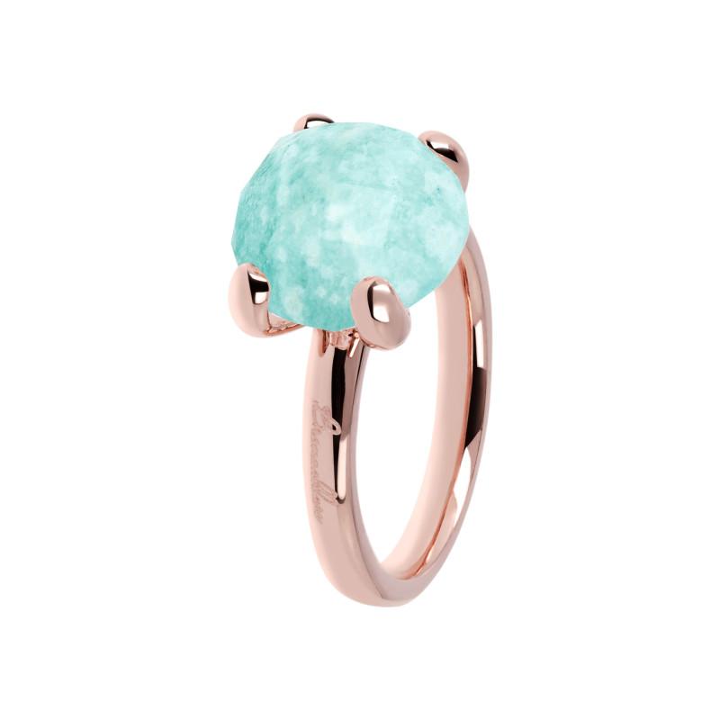 Rosé ring met amazoniet WSBZ00013