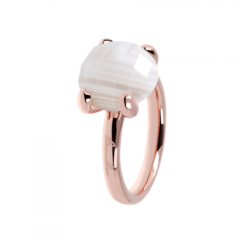 Rosé ring met agaat WSBZ00013