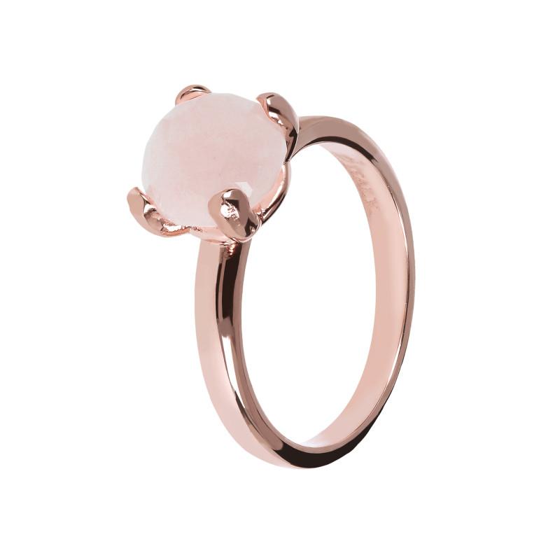 Rosé ring met rozenkwarts WSBZ00949