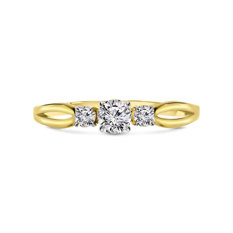 Geelgouden ring met zirkonia T142015601-Z