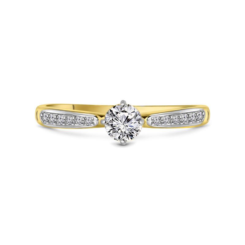 Geelgouden ring met zirkonia T147017112-Z