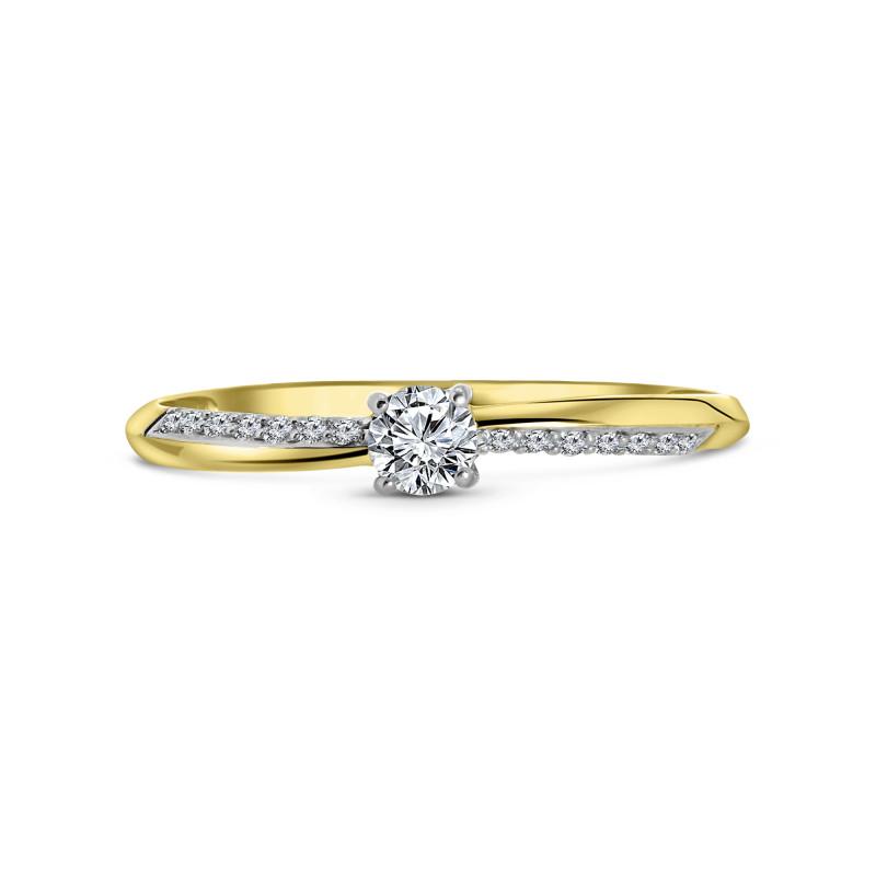 Geelgouden ring met zirkonia T302015543-Z