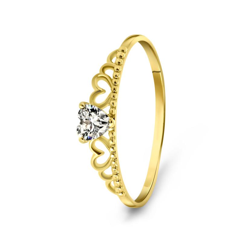 Geelgouden ring met zirkonia T902017247-ZI