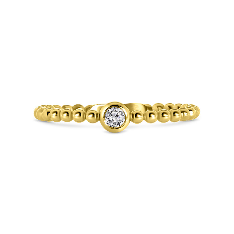 Geelgouden ring met zirkonia T902017308-Z