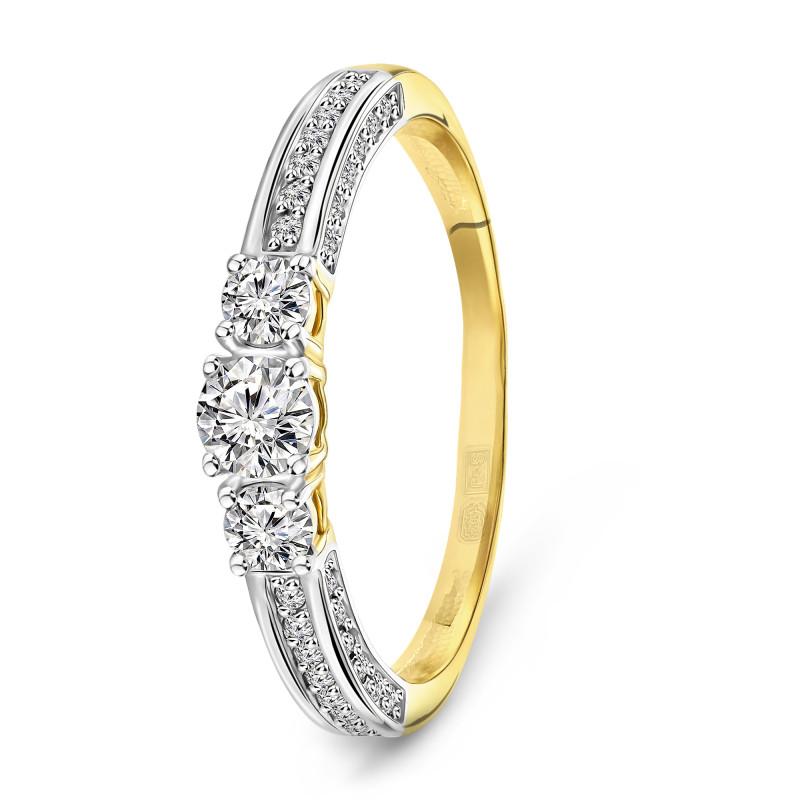 Geelgouden ring met zirkonia T942018892-ZI