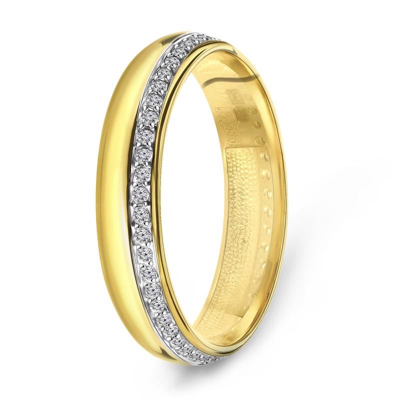 Geelgouden ring met zirkonia T947013925-Z