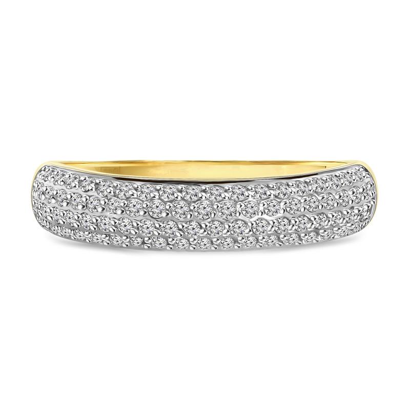 Geelgouden ring met zirkonia T947016141-1-ZI