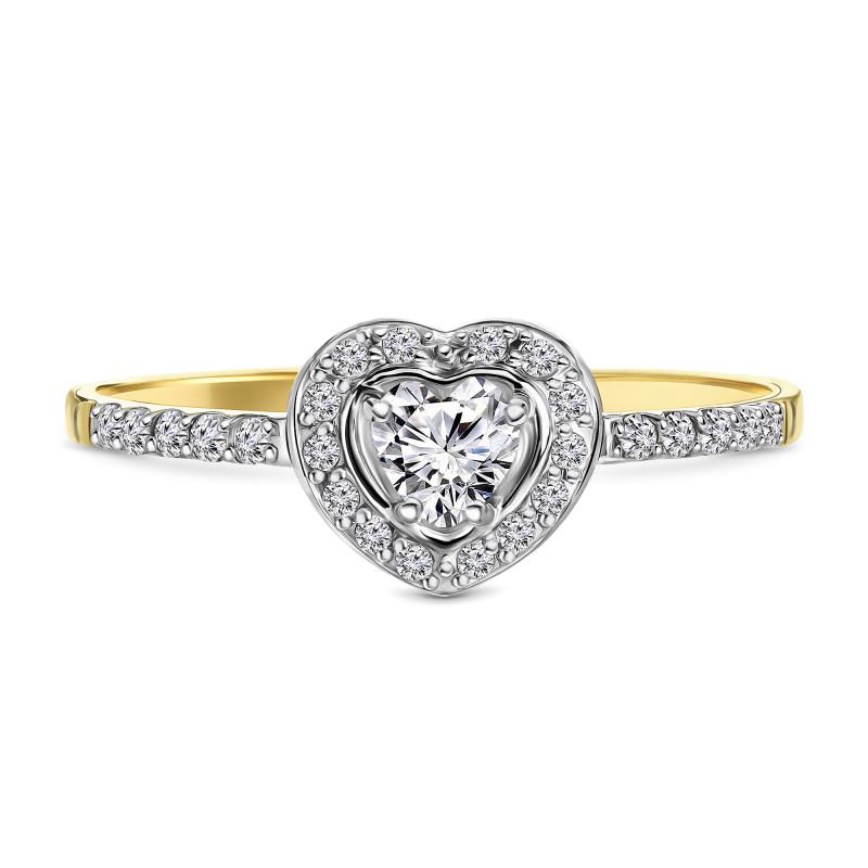 Geelgouden ring met zirkonia T947016690-ZI