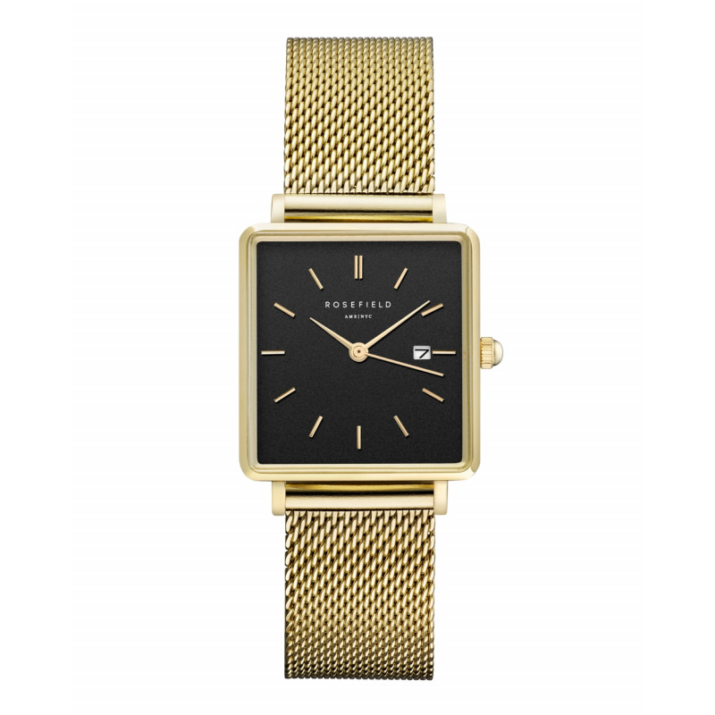The Boxy Black Mesh Gold QBMG-Q06