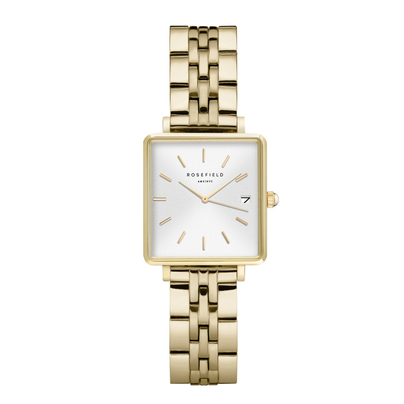 The Mini Boxy White Sunray Steel Gold QMWSG-Q021