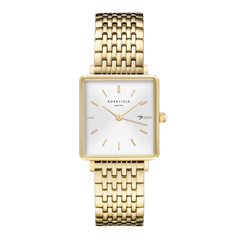 The Boxy White Sunray Steel Gold QWSG-Q09