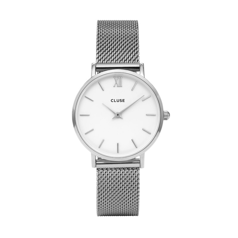 CLUSE Minuit Mesh, Silver, White/Silver