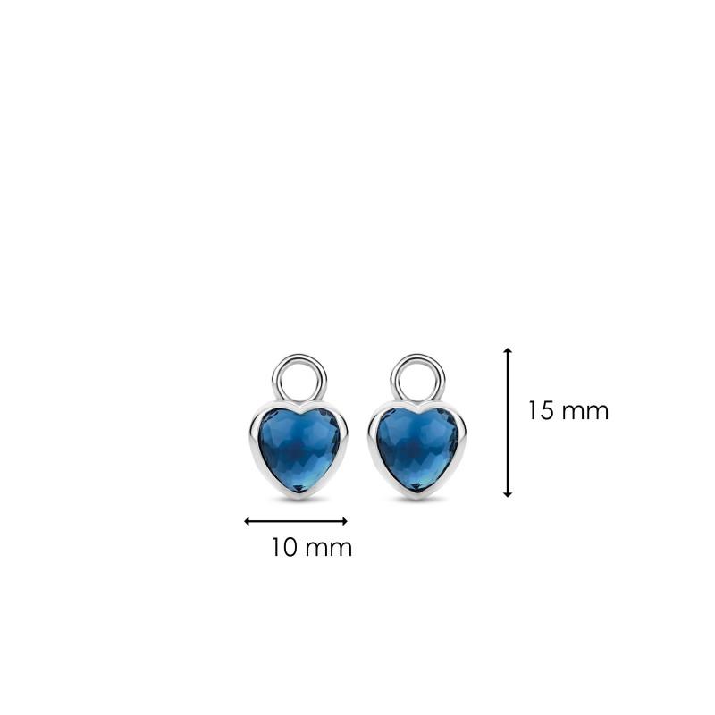 Zilveren oorbedels 9231DB