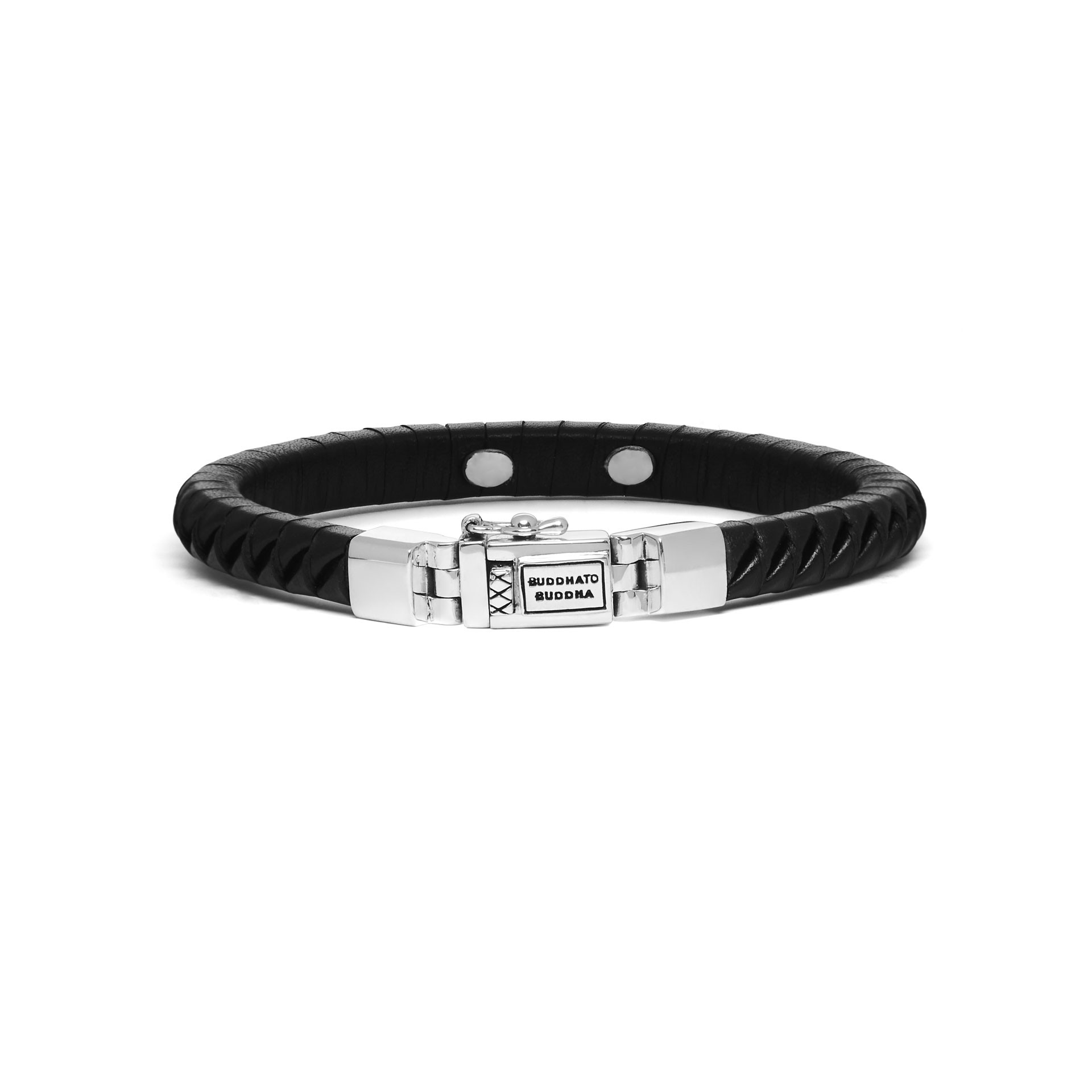 Armband Komang Small Leather Black 162BL