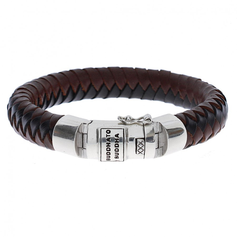 Leren armband Ben leather Mix brown-black 544MIX