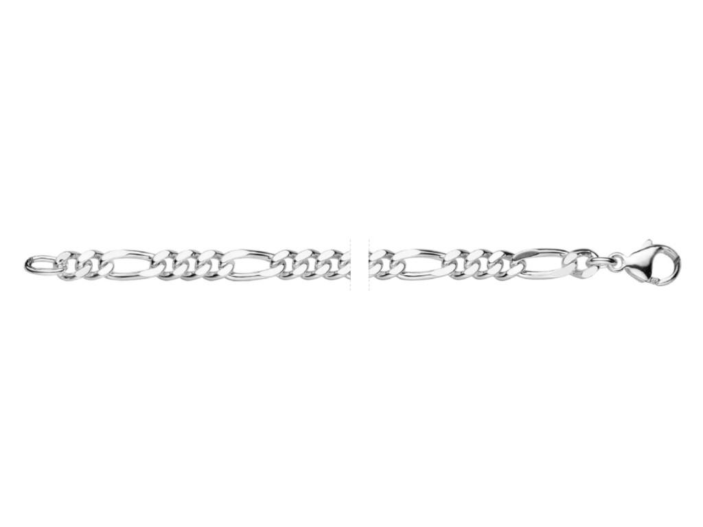 Zilver figaro collier 371655.14.500