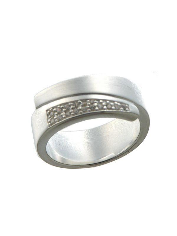 Zilveren damesring met zirkonia 11-6731-7081